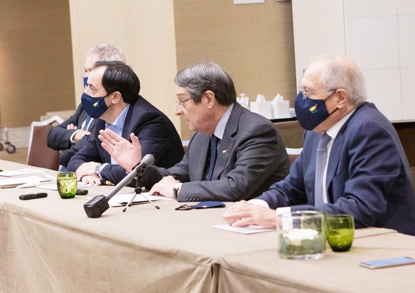 Anastasiadis'ten basın toplantısı