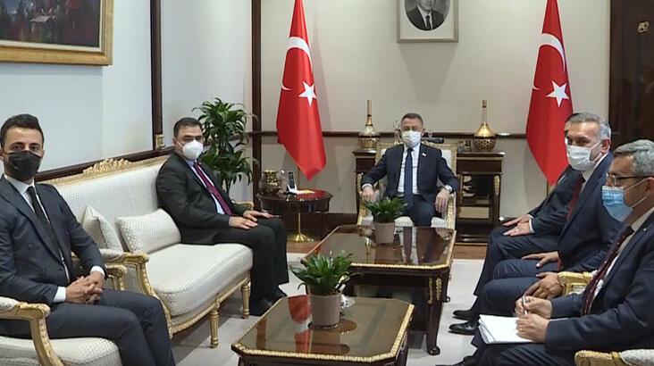 Fuat Oktay, Kuzey Kıbrıs Türk Kızılay heyetini kabul etti