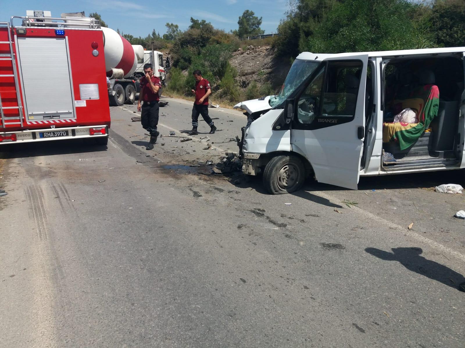 Tatlısu- Girne yolunda kaza