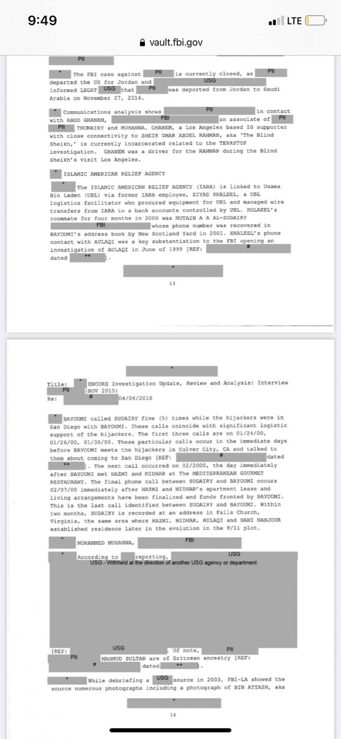 Gizli 11 Eylül belgeleri yayımlandı