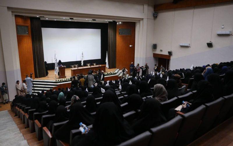 Kadınlardan Taliban'a destek etkinliği