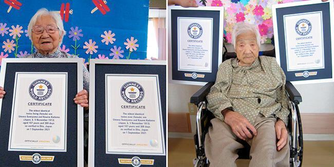 Yaşayan en yaşlı ikizler!