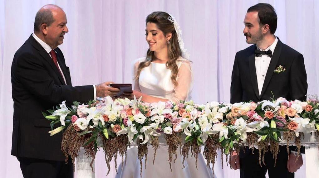 Cumhurbaşkanı Tatar, TC Dışişleri Bakanı Çavuşoğlu'nun kızının nikahına katıldı