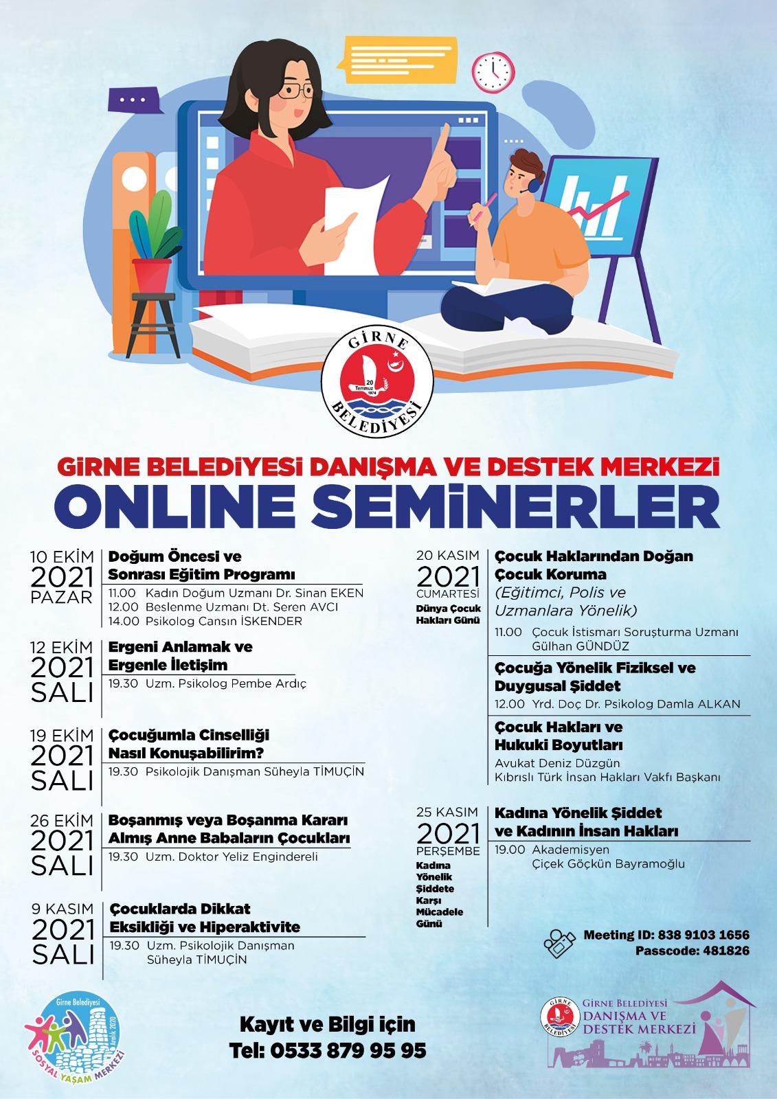 Girne Belediyesi'nden 11 uzman, 11 seminer!